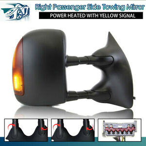 Towing Mirror Manual Textured Black Pair Set For Chevy Gmc Pickup 99 07 Truck