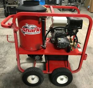 Used Shark Sgp353027 Gas diesel 3 5gpm 3000psi Hot Water Pressure Washer 582hrs