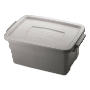 Rubbermaid Commercial Roughneck Storage Box 10 3 8 X 15 7 8 X 7 3 Gallon