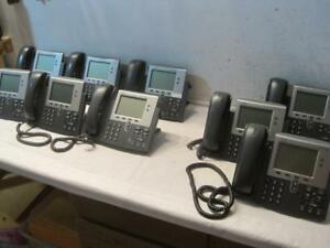 Lot Of 11 Cisco Ip Phone Lcd Display Telephones Cp 7942g And Cp 7941g