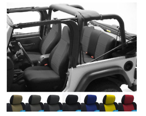 Custom Fit Seat Covers Cr Grade Neoprene For 1996 2006 Jeep Wrangler Tj Black