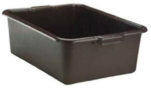 Plastic Serving Tray restaurant Bus Tray 7 inch Deep Tub Black 21 X 15 X 7