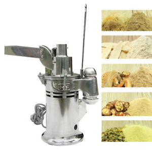 Df 15 220v Ac Auto Continuous Grinding Hammer Mill Herb Grinder Pulverizer Lab