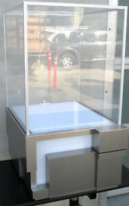 Custom Made Lighted Metal Frame Acrylic Display Case 34 X 24