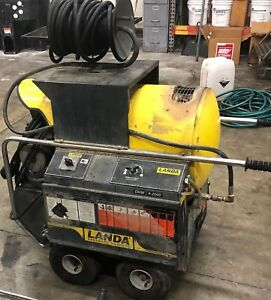 Used Landa Ohw4 230v Diesel 4 2 Gpm 2000psi Hot Water Pressure Washer