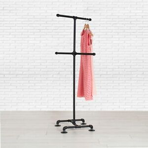Industrial Pipe 4 way Clothing Rack By William Robert s Vintage