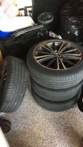 Scion Fr s 17 4 Wheel Rims With Michelin Xi3 Tires 5x100 Oem Brz Frs 2013 2015