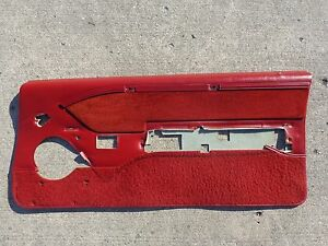 85 88 Thunderbird Turbo Coupe Red Cloth Door Panels L Or R Used Oem 2 3