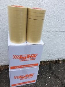 Automotive Masking Tape Hystick Performance 3 4 X 60 Yds Beige 48 Rolls New
