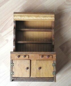 Vintage Apprentice Welsh Dresser Miniature Pine Kitchen Playroom Dolls Cabinet