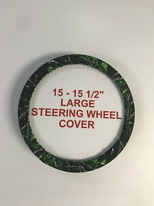 Camouflage Steering Wheel Covers Sirphis Toxic Large 15 15 5