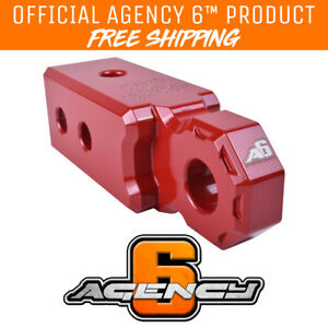 Agency 6 Recovery Shackle Block 2 5 Red Powder Coat Fits 2 5 Hitch Receivers