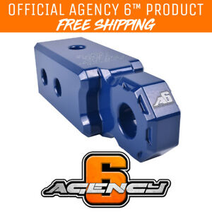 Agency 6 Recovery Shackle Block 2 5 Blue Powder Coat Fits 2 5 Hitch Receiver