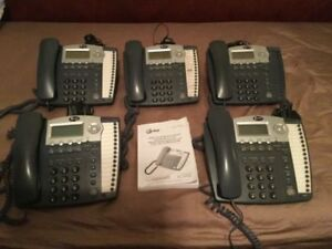 Lot Of 5 At t 984 Small Business Phone System W Digital Answer Much More