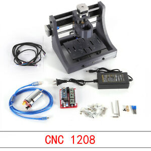 Mini Diy Cnc 1208 Mill Router Kit Usb Desktop Metal Engraver Pcb Milling Machine