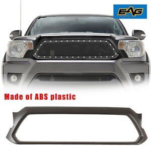 Outer Grill Shell Matte Black Abs Plastic Shell Fits For 2012 2015 Toyota Tacoma