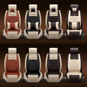 Universal Auto Seat Covers Chair Cushion Pu Leather Pad Fits All 5 Seats Car Bsp