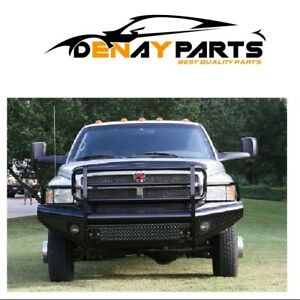 For 1994 2002 Dodge Ram 2500 Steel Front Ranch Bumper Fab Fours Dr94 S1560 1