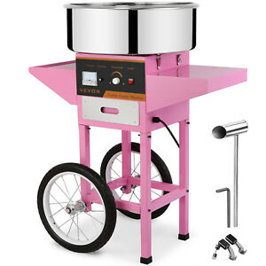Electric Candy Floss Machine Cotton Candy Maker 1030w Cotton Sugar W cart