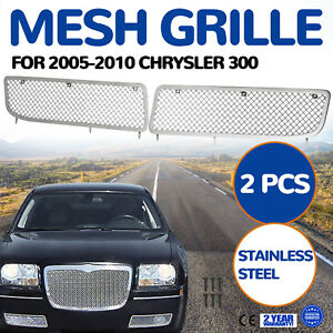 For 2005 2010 Chrysler 300 Stainless Steel Bumper 1 8mm Mesh Grille Grill Insert