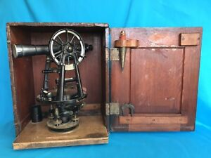 Vintage C l Berger Sons Boston Mass Surveying Transit Instrument Of Precision