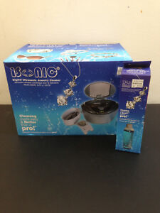 New Isonic D2840 1 6 Pt Ultrasonic Cleaner Jewelry Cleaner W Cleaning Solution