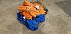 Orange 14ft Endless Round Sling belt 53 000lbs choker 106 000lbs basket