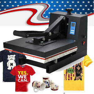 15 x15 Digital Transfer Sublimation T shirt Cup Hat Cap Flat Heat Press Machine
