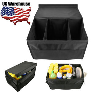 Car Storage Box Bag Collapsible Foldable Organizer Cargo Folding Container Case