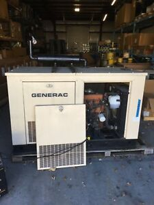 Natural Gas Generac 20 Kw Generator Perfect For Back Up Home Office Workshop