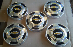 Chevy 2wd Dog Dish Hub Caps 10 5 1 2 Ton Pickup Truck Center Wheels 76 77 78 79