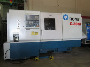 2004 Romi G30m Cnc Turning Center Lathe Live Tooling 22 X 40 3 54 Thru Hole