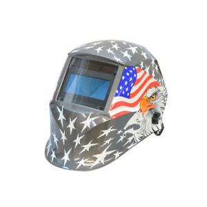 Usa Flag Eagle Solar Auto darkening Filter Welding Helmet Welder Mask 9 13 Shade