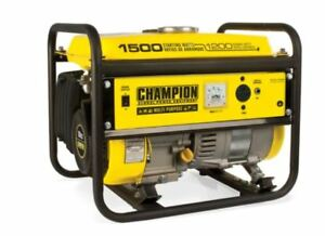 New Champion 1500 Watt Gas Portable Gasoline Generator