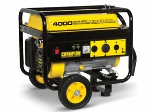New Champion 4000 Watt Gas Portable Gasoline Generator With Wheel Kit