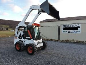 2007 Bobcat S250 Rubber Tire Skid Steer Loader High Flow Cab Heat Air 2 Speed