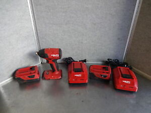 Hilti Sid 4 a22 Cordless Impact Driver 2 Batteries 2 Chargers