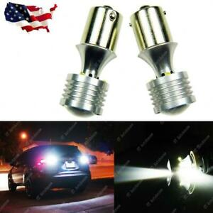 2x White 60w 360 Projector 1156 7506 Led Bulbs For Backup Reverse Lights