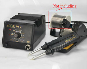 Aoyue 950 Adjustable Temperature Hot Air Rework Station Solder Iron 220v