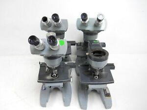Lot Of 4 Ao Spencer 1062 1aa Microscope W 10x W f Lens for Parts