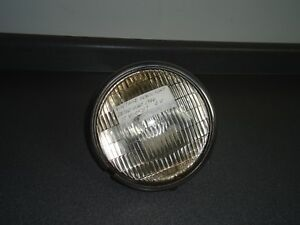 Vintage 7 Headlight Bucket W Corcoran Brown Sealed Beam 6 Volt Light Lamp 359