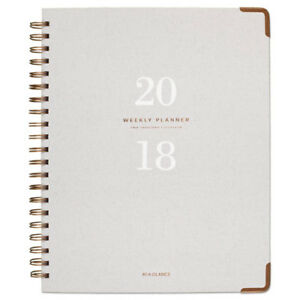 Light Gray Wirebound Weekly monthly Planners 8 3 8 X 11 Gray 2019