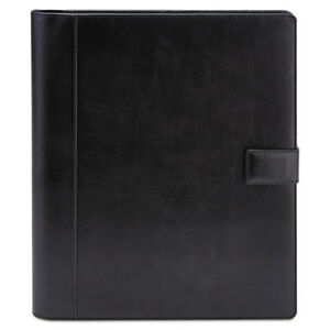 Textured Notepad Holder 8 1 2 X 11 Leather like Black