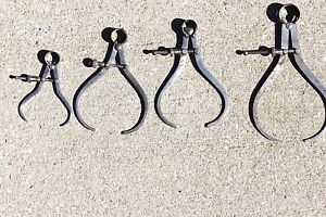 Nice Vintage Set Of 4 Spring Outside Calipers Quick Nut 3