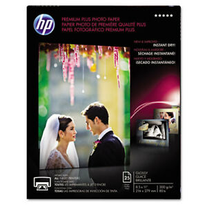 Premium Plus Photo Paper 80 Lbs Glossy 8 1 2 X 11 25 Sheets pack