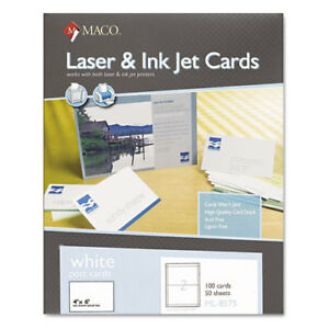Unruled Microperforated Laser ink Jet Index Cards 4 X 6 White 100 box