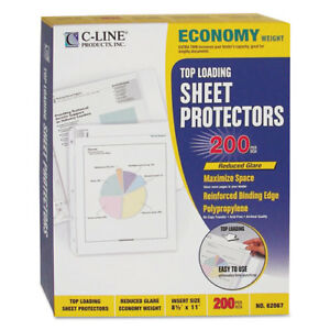 Economy Weight Poly Sheet Protector Reduced Glare 2 11 X 8 1 2 200 bx