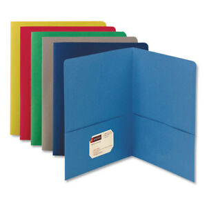 Two pocket Folder Textured Paper Assorted 25 box