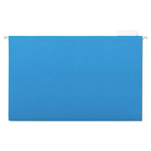 Hanging File Folders 1 5 Tab 11 Point Stock Legal Blue 25 box