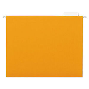 Hanging File Folder 1 5 Tab Letter Orange 25 bx